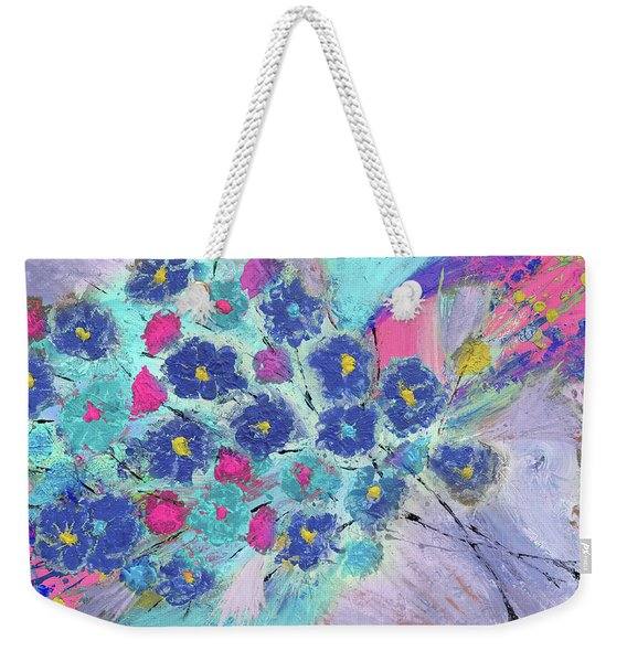 Floral Bouquet Abstract Painting  Weekender Tote Bag