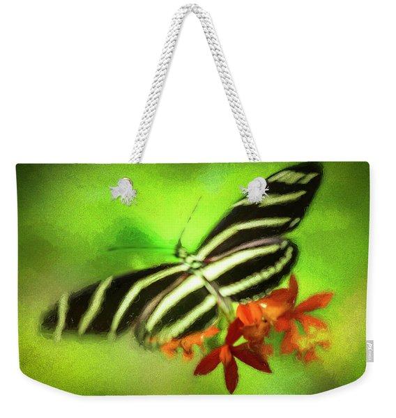 Floral Butterfly Weekender Tote Bag