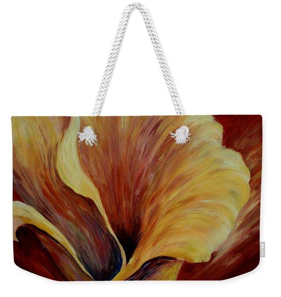 Floral Close Up Weekender Tote Bag