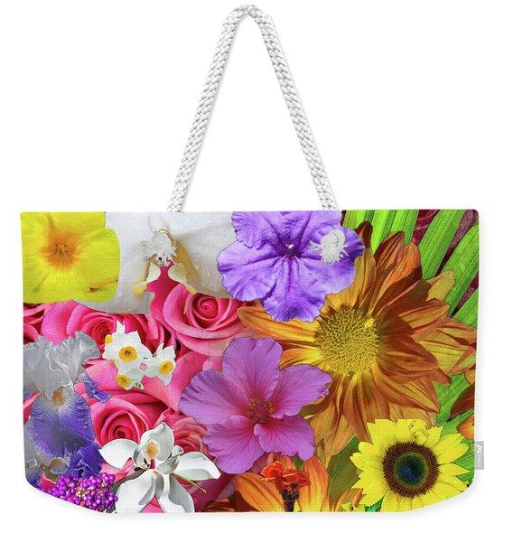 Floral Collage 01 Weekender Tote Bag
