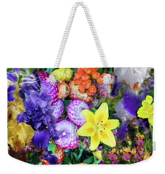 Floral Collage 02 Weekender Tote Bag