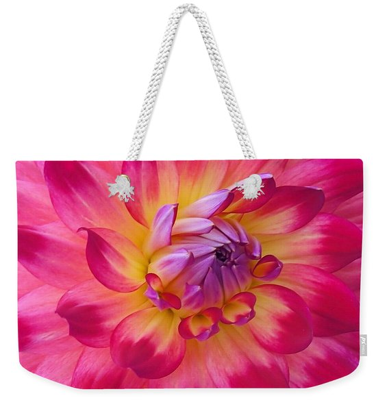 Weekender Tote Bag featuring the photograph Floral Fantasia by Patricia Strand