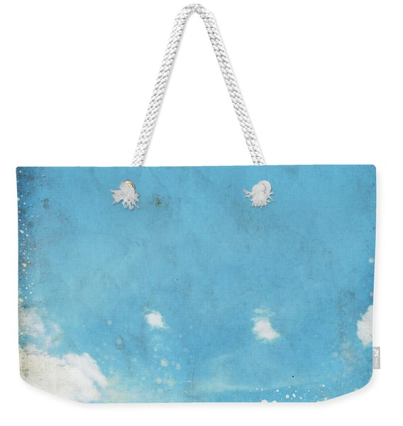 Floral In Blue Sky And Cloud Weekender Tote Bag