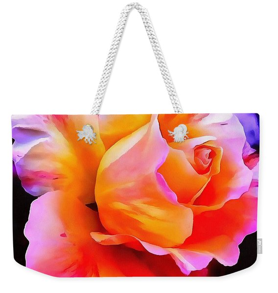 Floral Interior Design Thick Paint Weekender Tote Bag