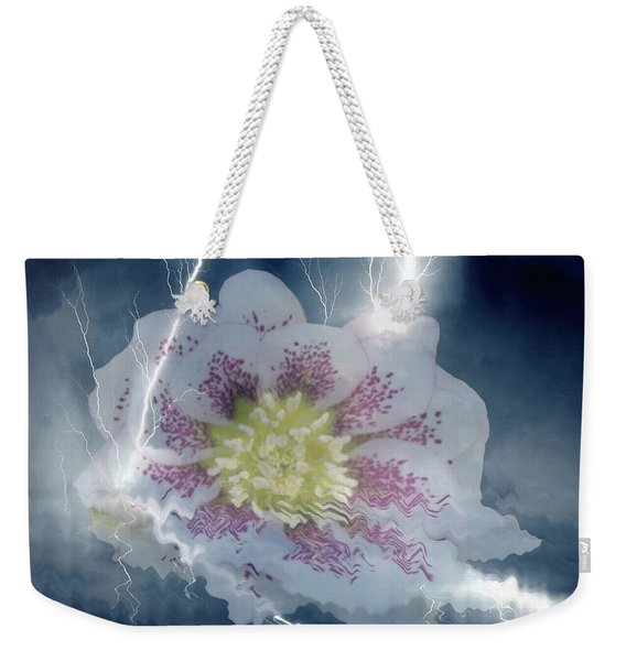 Floral Lightning Reflections Weekender Tote Bag