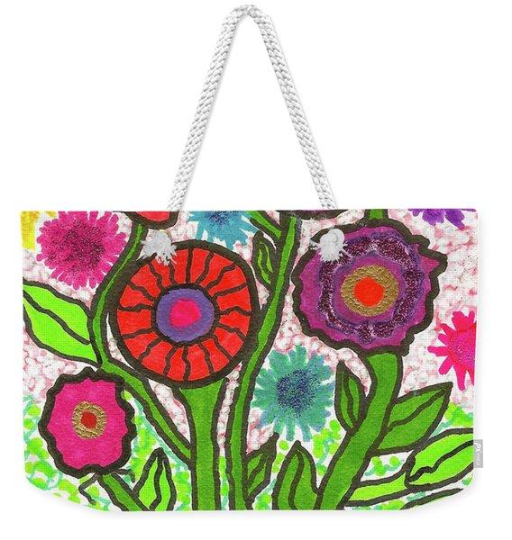 Floral Majesty Weekender Tote Bag