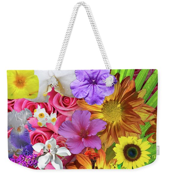 Floral Multitude Weekender Tote Bag