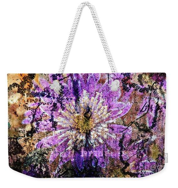 Floral Poetry Of Time Weekender Tote Bag