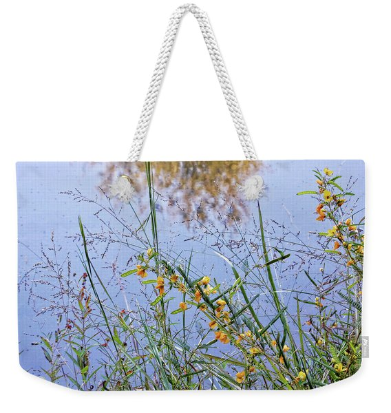 Floral Pond  Weekender Tote Bag