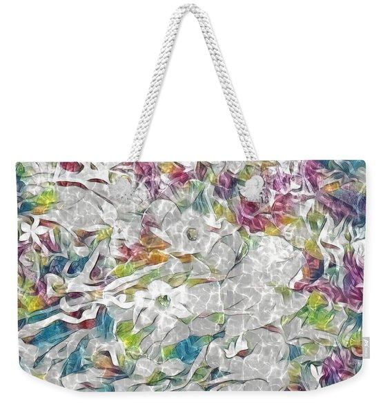 Floral Rainbow Weekender Tote Bag