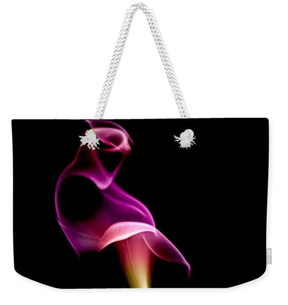 Floral Wisp Weekender Tote Bag