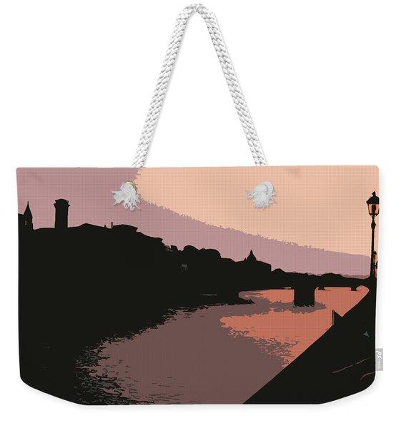 Florence At Night Weekender Tote Bag