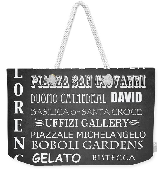 Florence Famous Landmarks Weekender Tote Bag