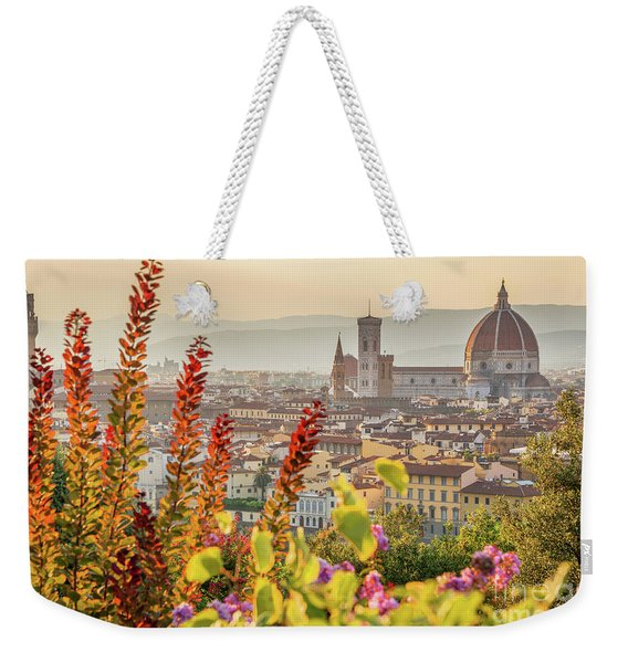 Florence In Summer Weekender Tote Bag