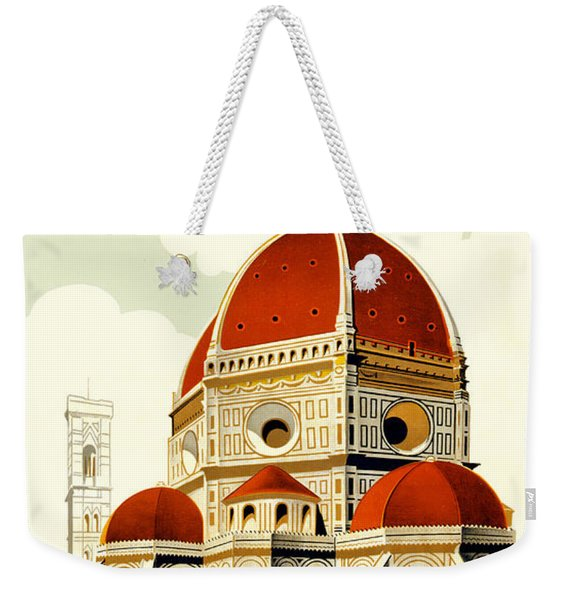 Florence Travel Poster Weekender Tote Bag