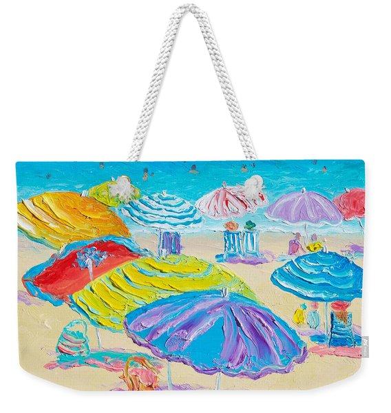 Florida Beach Umbrellas Weekender Tote Bag