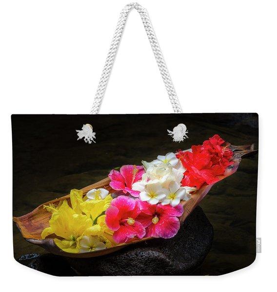 Flower Boat Weekender Tote Bag