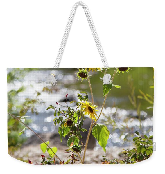 Flower By Stream Weekender Tote Bag