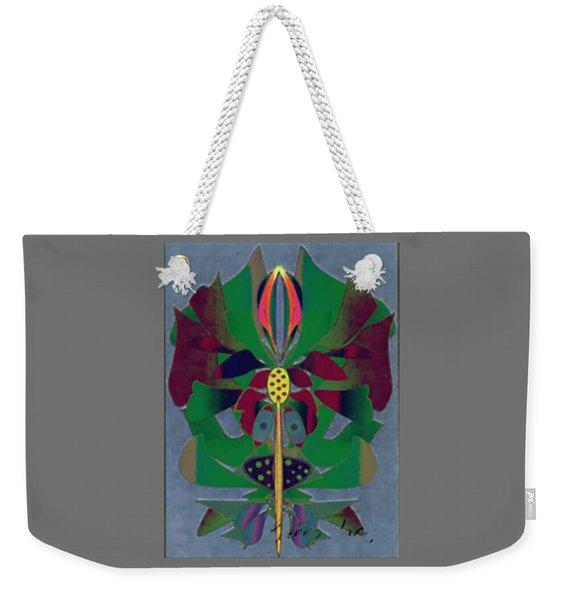 Flower Design Weekender Tote Bag