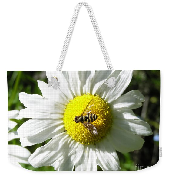 Flower Fly On A Daisy Weekender Tote Bag