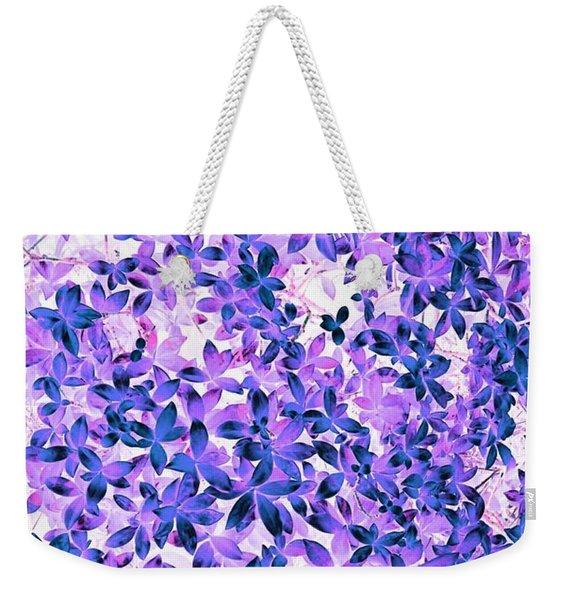 Flower Fuji Weekender Tote Bag