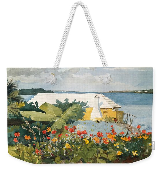 Flower Garden And Bungalow Weekender Tote Bag