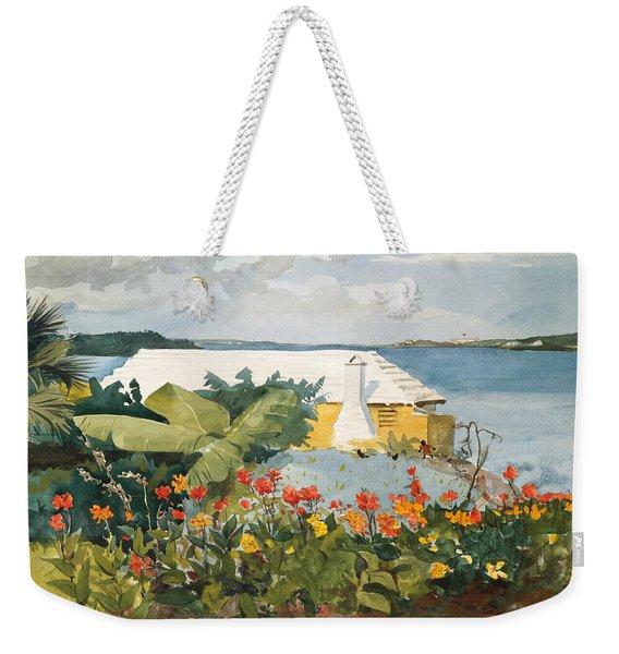 Flower Garden And Bungalow Weekender Tote Bag