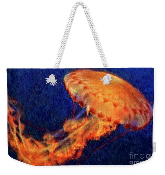 Flower Hat Jellyfish Weekender Tote Bag