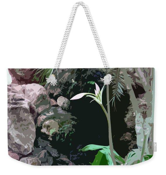 Flower, Leaf And Stone Weekender Tote Bag