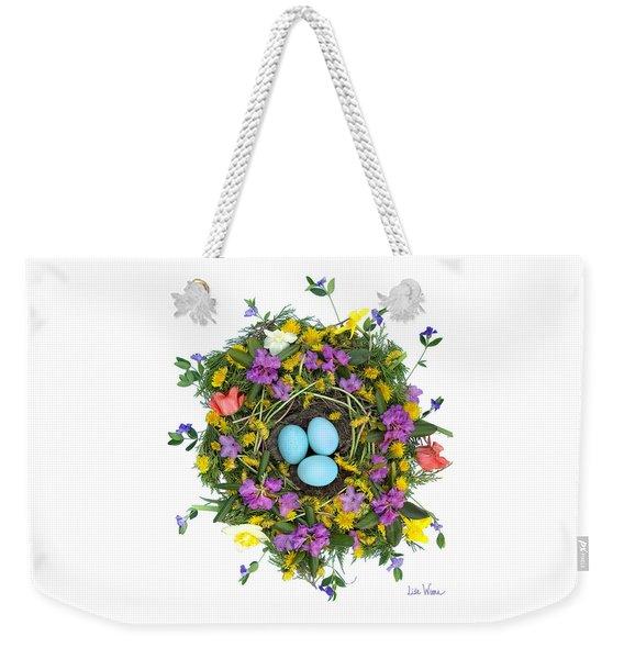 Flower Nest Weekender Tote Bag