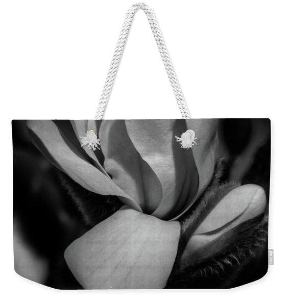 Flower Noir Weekender Tote Bag