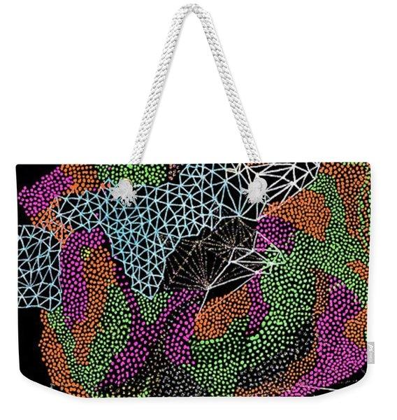 Flower Of Life Weekender Tote Bag