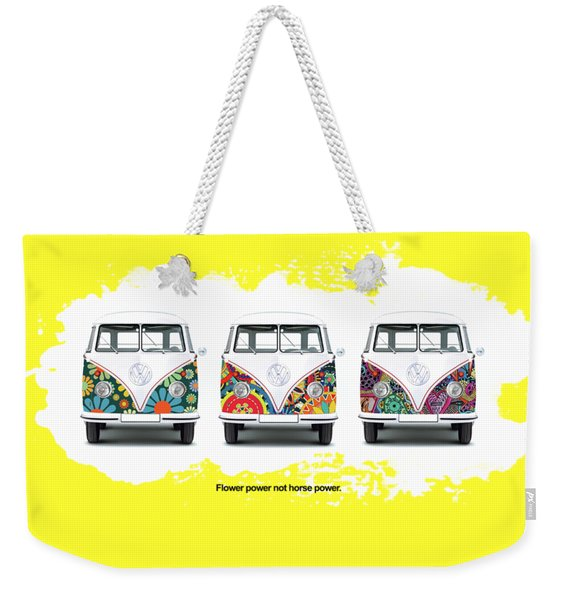 Flower Power Vw Weekender Tote Bag
