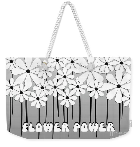 Flower Power - White  Weekender Tote Bag