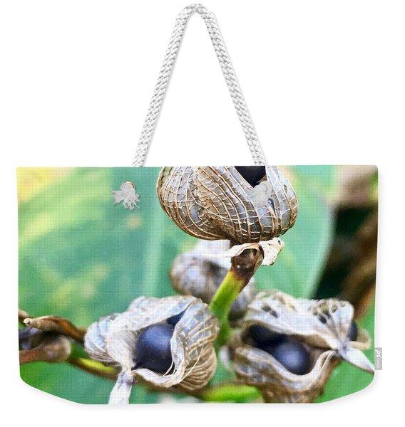 Flower Seed Pod Weekender Tote Bag