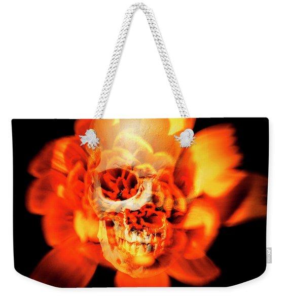 Flower Skull Weekender Tote Bag