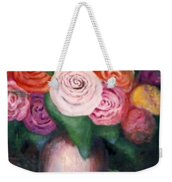 Flower Spirals Weekender Tote Bag