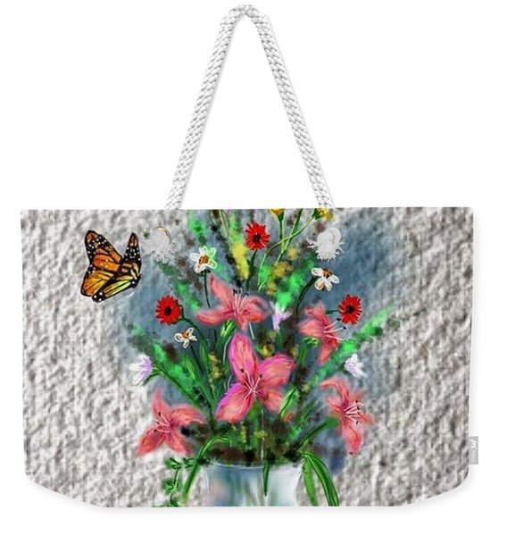 Flower Study Three Weekender Tote Bag