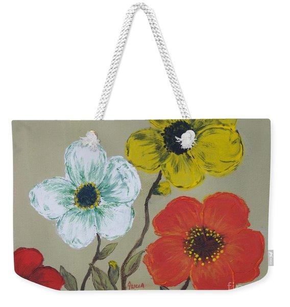 Flower Trio Weekender Tote Bag