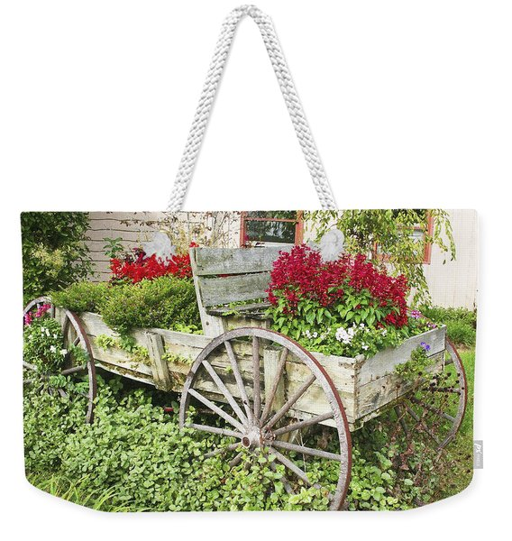 Flower Wagon Weekender Tote Bag