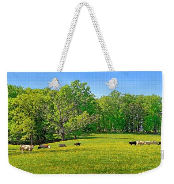 Flowering Cow Pasture Weekender Tote Bag