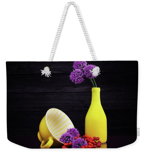 Flowering Onion With Yellow Weekender Tote Bag