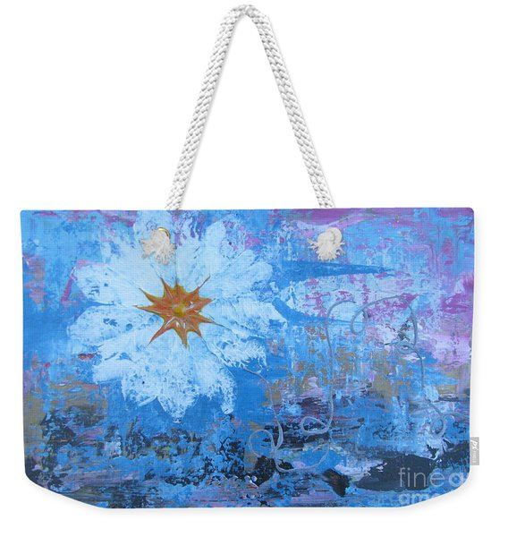 Weekender Tote Bag featuring the painting Flowers 19 by Jacqueline Athmann