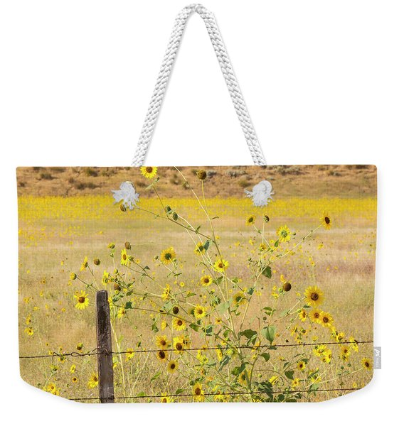 Flowers And Fence Weekender Tote Bag