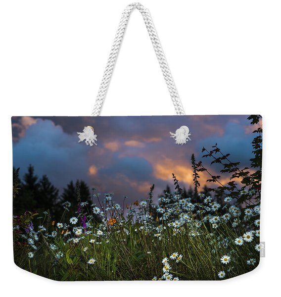 Flowers At Sunset Weekender Tote Bag