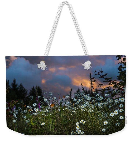 Flowers At Sunset Weekender Tote Bag