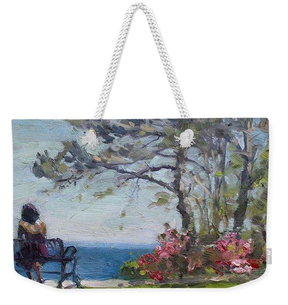 Flowers By Lake Ontario Weekender Tote Bag