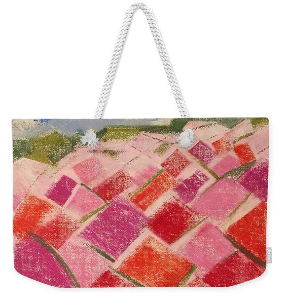 Flowers Fields Weekender Tote Bag