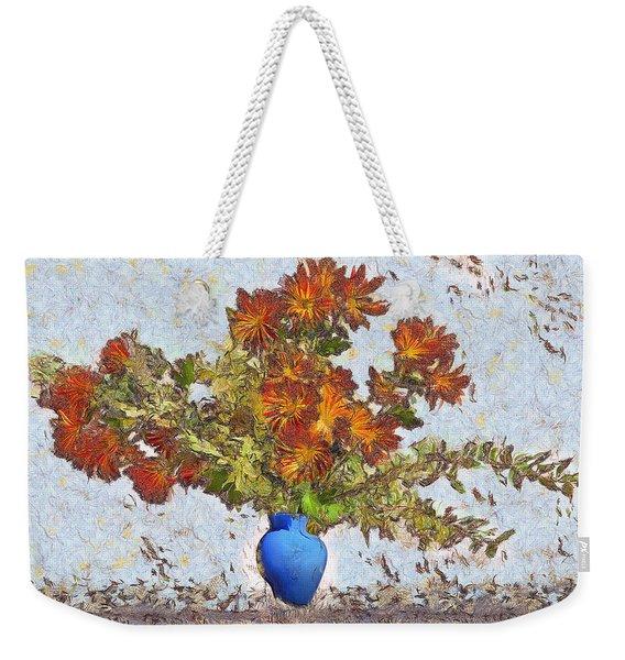 Flowers Flying Out Of Vase Weekender Tote Bag