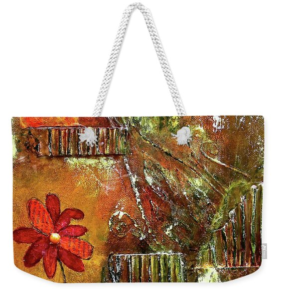 Flowers Grow Anywhere Weekender Tote Bag